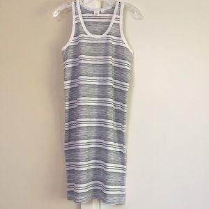 Gap Black & White Striped Racerback Tank Dress. XS